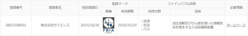 FBIA製品認証登録