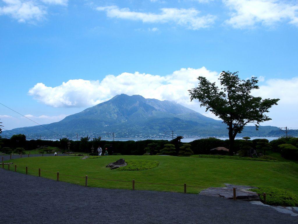 仙巌園からの桜島