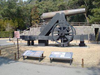 反射炉跡の鉄製150ポンド砲