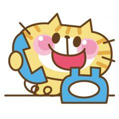 電話する猫のイラスト