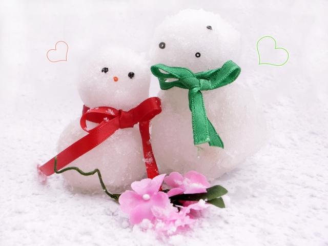 雪だるまカップル