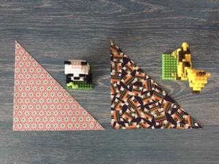 千代紙とダイソープチブロック