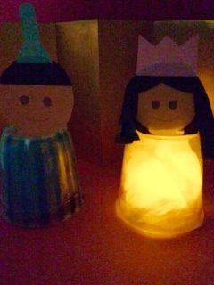 ひな人形ライトアップ