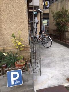 トヨクニコーヒー駐輪場