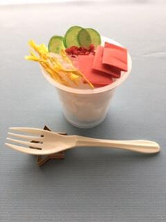 折り紙で作ったカップ寿司