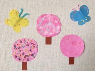桜の工作の完成