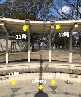 江坂公園 日の時計説明つき