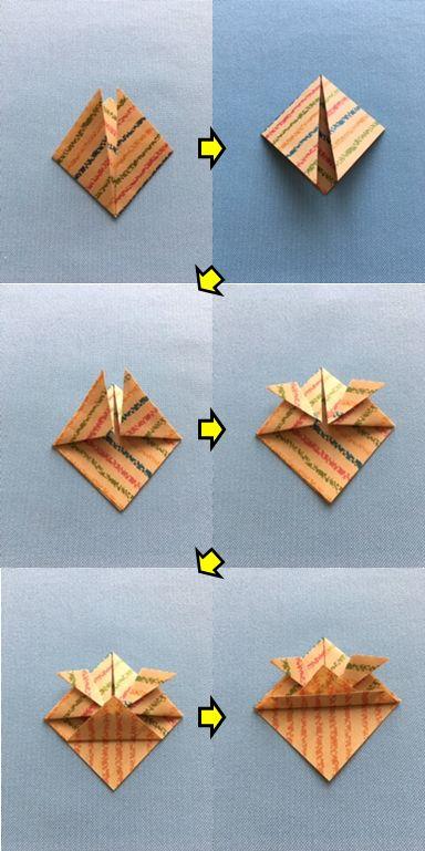 兜の折り方