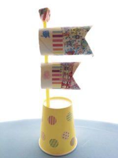 ペーパー芯や紙コップを使ってつくる鯉のぼり