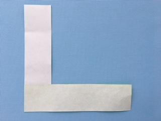 L字型の折り紙