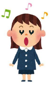 歌を唄う子供
