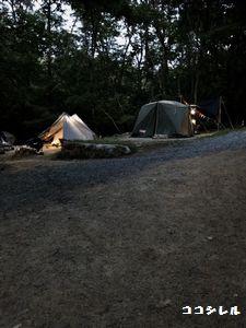 自然の森ファミリーオートキャンプ場の風景