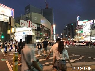 淀川花火当日19時頃の十三駅周辺の様子